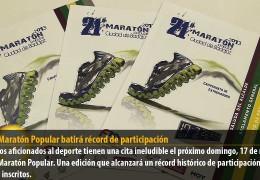 El XXI Maratón Popular batirá récord de participación