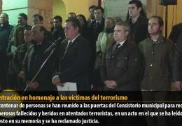Concentración en homenaje a las víctimas del terrorismo