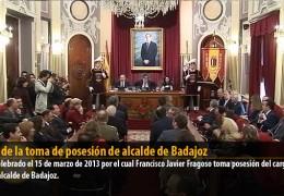 Acto de la toma de posesión del alcalde de Badajoz