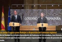 Francisco Javier Fragoso pone Badajoz a disposición del Gobierno regional