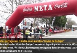"""Los atletas portugueses triunfan en el maratón """"Ciudad de Badajoz"""""""