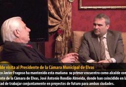 El alcalde visita al Presidente de la Cámara Municipal de Elvas
