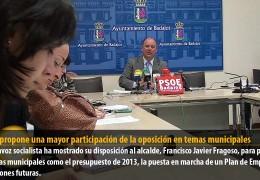 Vegas propone una mayor participación de la oposición en temas municipales