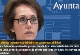 Solana afronta la portavocía del Gobierno con responsabilidad