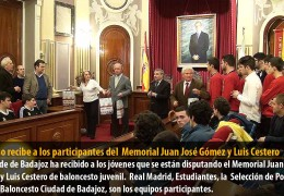Fragoso recibe a los participantes del  Memorial Juan José Gómez y Luis Cestero