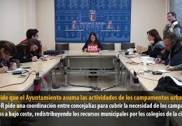 Boza pide que el ayuntamiento asuma las actividades de los campamentos urbanos