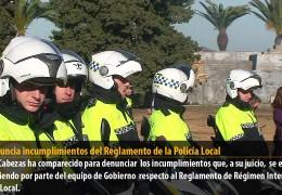 IU denuncia incumplimientos del Reglamento de la Policía Local
