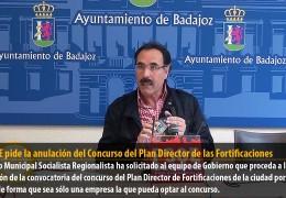 El PSOE pide la anulación del Concurso del Plan Director de las Fortificaciones