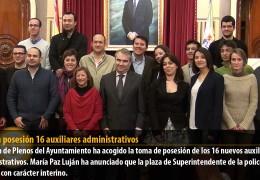 Toman posesión 16 auxiliares administrativos