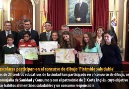 1.100 escolares participan en el concurso de dibujo 'Pirámide saludable'