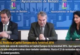 Badajoz, finalista a Capital Europea de la Juventud 2016