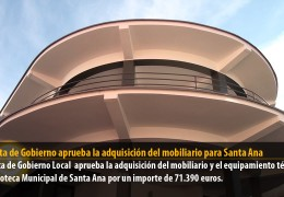 La Junta de Gobierno aprueba la adquisición del mobiliario para Santa Ana