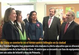 El CEIP de Llera se convierte en el tercer centro bilingüe en la ciudad