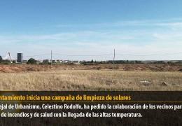El Ayuntamiento inicia una campaña de limpieza de solares