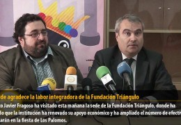 El alcalde agradece la labor integradora de la Fundación Triángulo
