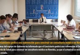 El Ayuntamiento pedirá una subvención para construir un consultorio médico en Novelda