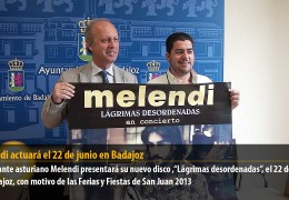 Melendi actuará el 22 de junio en Badajoz