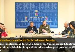 Jura de bandera con motivo del Día de las Fuerzas Armadas