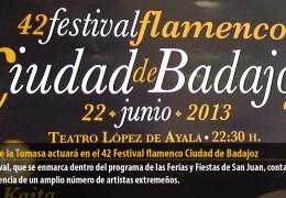 José de la Tomasa actuará en el 42 Festival flamenco Ciudad de Badajoz