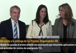 El alcalde asiste a la entrega de los Premios Emprendedor XXI