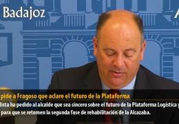 Vegas pide a Fragoso que aclare el futuro de la Plataforma