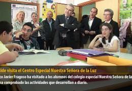 El alcalde visita el Centro Especial Nuestra Señora de la Luz