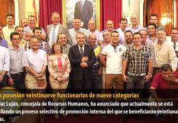 Toman posesión veintinueve funcionarios de nueve categorías profesionales