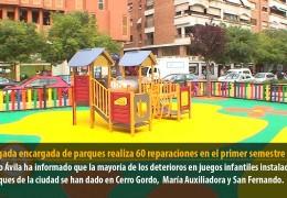 La brigada encargada de parques realiza 60 reparaciones en el primer semestre