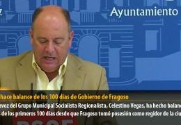 Vegas hace balance de los 100 días de Gobierno de Fragoso