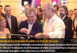 El alumbrado da el pistoletazo de salida a la Feria de San Juan