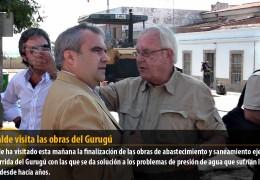 El alcalde visita las obras del Gurugú
