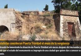 Los socialistas consideran Puerta Trinidad el muro de la vergüenza