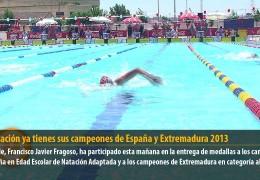 La natación ya tienes sus campeones de España y Extremadura 2013