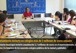 El Ayuntamiento invierte en colegios más de 3 millones de euros anuales