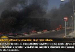 Los bomberos sofocan tres incendios en el casco urbano