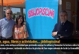 Calor, agua, libros y actividades… ¡bibliopiscina!
