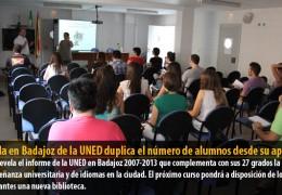 El aula en Badajoz de la UNED duplica el número de alumnos desde su apertura