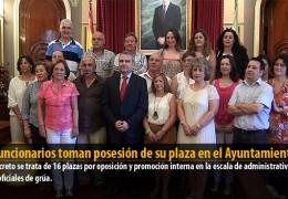 21 funcionarios toman posesión de su plaza en el Ayuntamiento