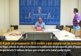 El GMS-R pide un presupuesto 2013 creible y que cumpla con las inversiones