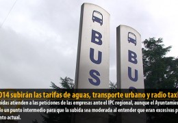 En 2014 subirán las tarifas de aguas, transporte urbano y radio taxi