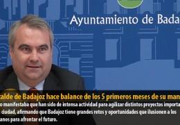 El alcalde de Badajoz hace balance de los 5 primeros meses de su mandato