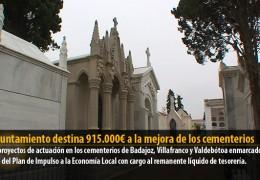 El Ayuntamiento destina 915.000€ a la mejora de los cementerios