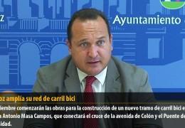 Badajoz amplía su red de carril bici