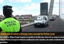 El GMS-R pide que se releve a Astorga como concejal de Policía Local