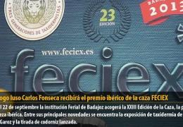 El biólogo luso Carlos Fonseca recibirá el premio ibérico de la caza FECIEX