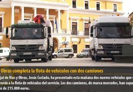 Vías y Obras completa la flota de vehículos con dos camiones