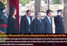 La Reina Doña Sofía preside los actos conmemorativos de la Virgen del Pilar