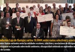 La Fundación Caja de Badajoz sortea 18.000€ entre varios colectivos y asociaciones