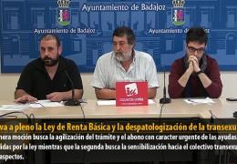IU lleva a pleno la Ley de Renta Básica y la despatologización de la transexualidad