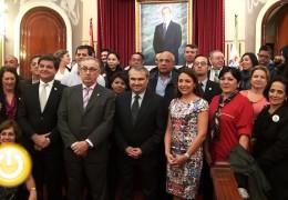 El alcalde recibe a empresarios iberoamericanos